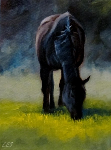 """Greener Pastures"" original fine art by ~ces~ Christine E. S. Code"