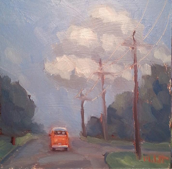 """VW Bus Summer Road Trip Original Art Daily Oil Painting"" original fine art by Heidi Malott"
