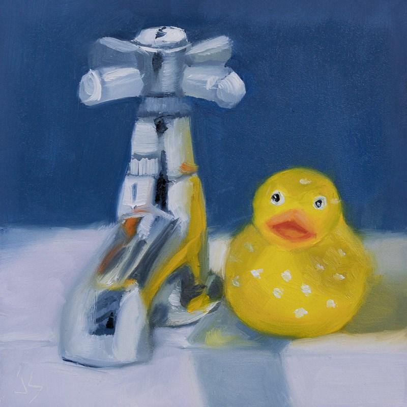 """""""Bath Time!"""" original fine art by Johnna Schelling"""