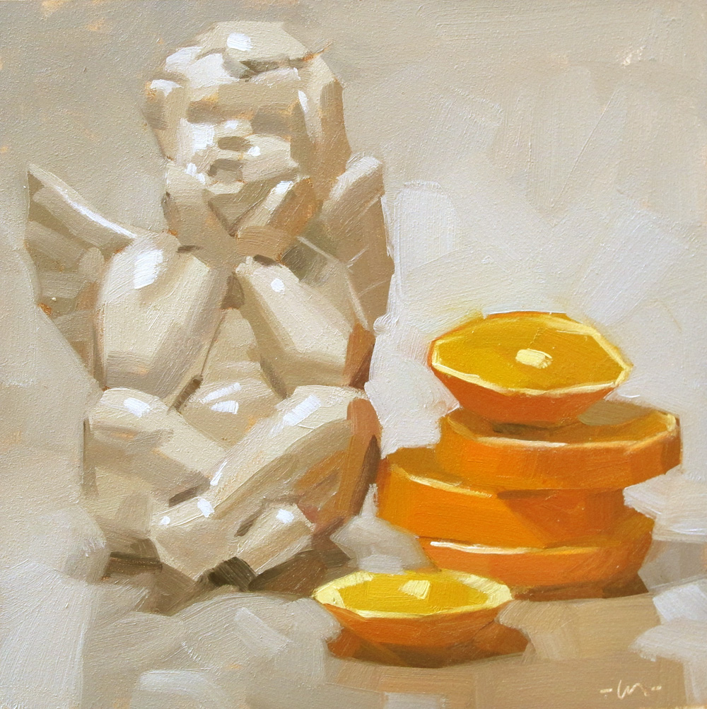 """Angelic Slices"" original fine art by Carol Marine"