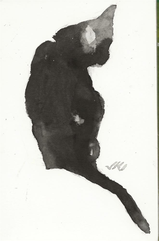 """Daily Cat 75"" original fine art by Jean Krueger"