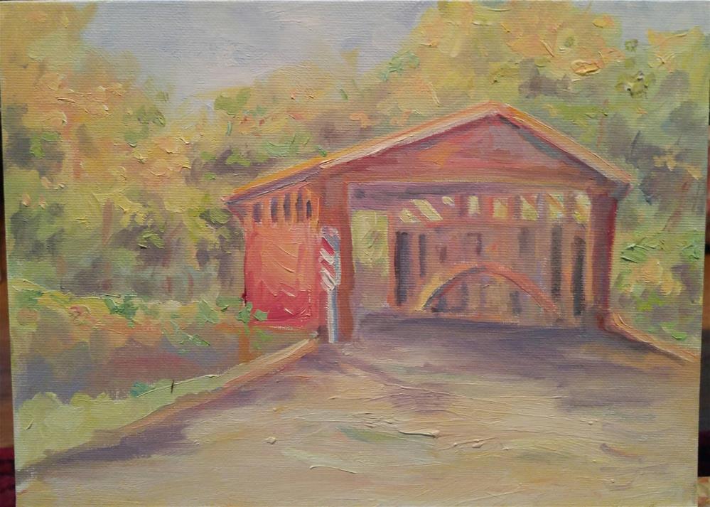"""Covered Bridge"" original fine art by angela scully"