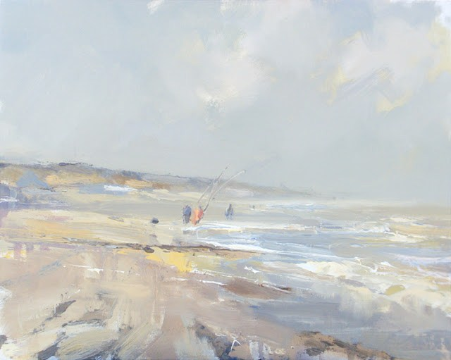 """""""Seascape winter #36 Spring around the corner"""" original fine art by Roos Schuring"""