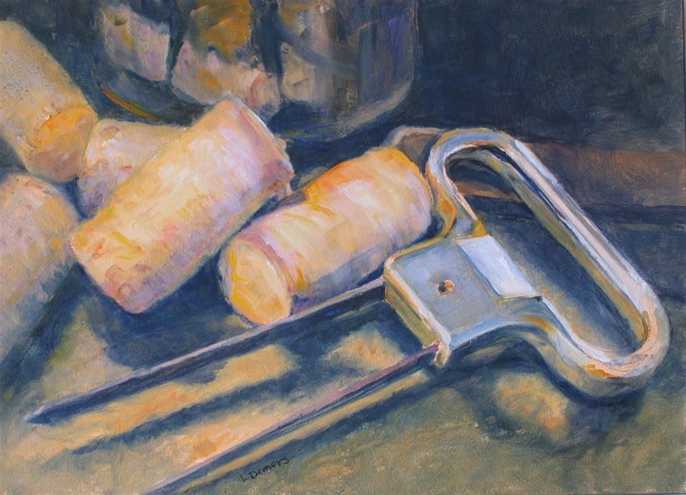 """Wine Corks"" original fine art by Linda Demers"