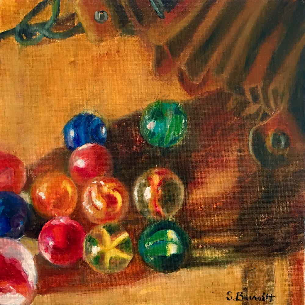 """Don't Lose Your Marbles"" original fine art by Sherri Burritt"