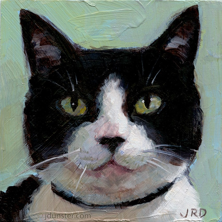 """Such a Good Kitty"" original fine art by J. Dunster"