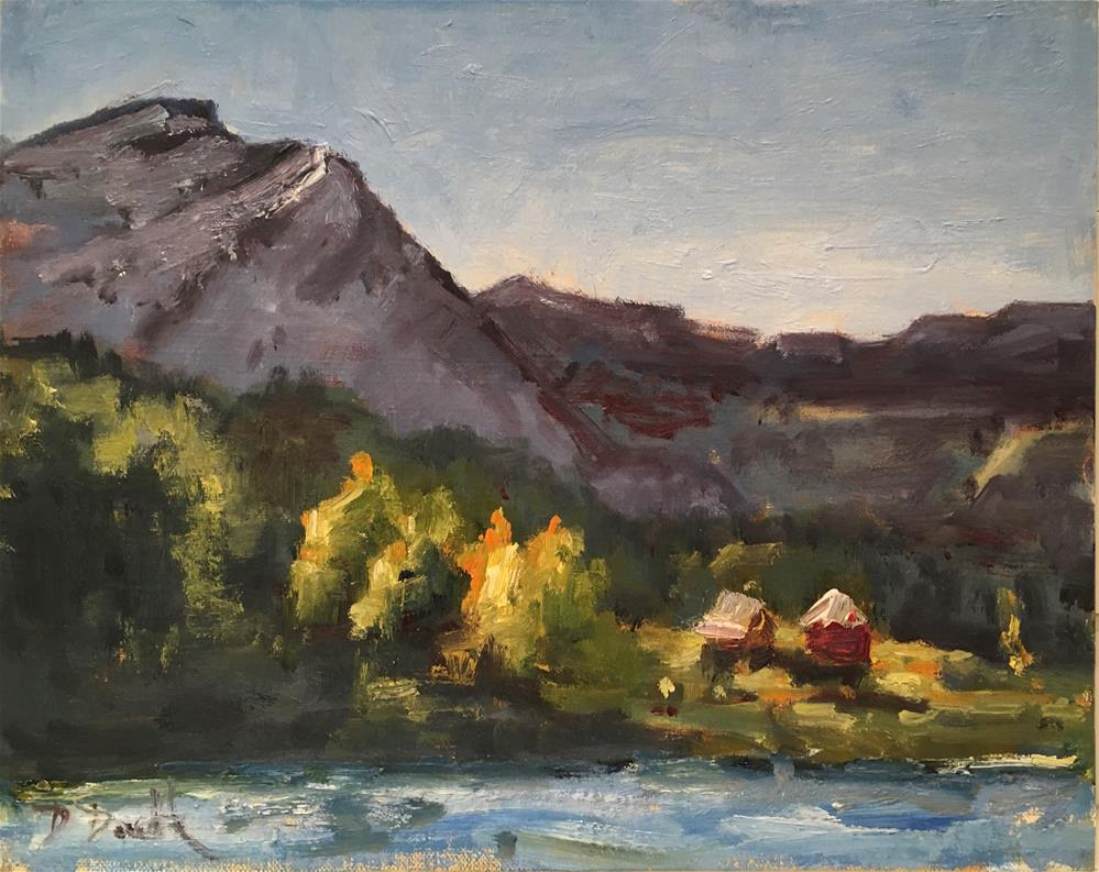 """Early Morning light"" original fine art by Debbie Dowdle"