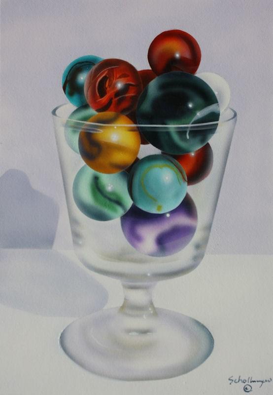 """""""Marbles # 21"""" original fine art by Fred Schollmeyer"""