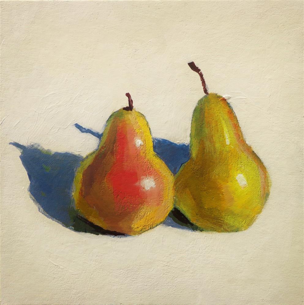 """Two pears"" original fine art by Maria Z."