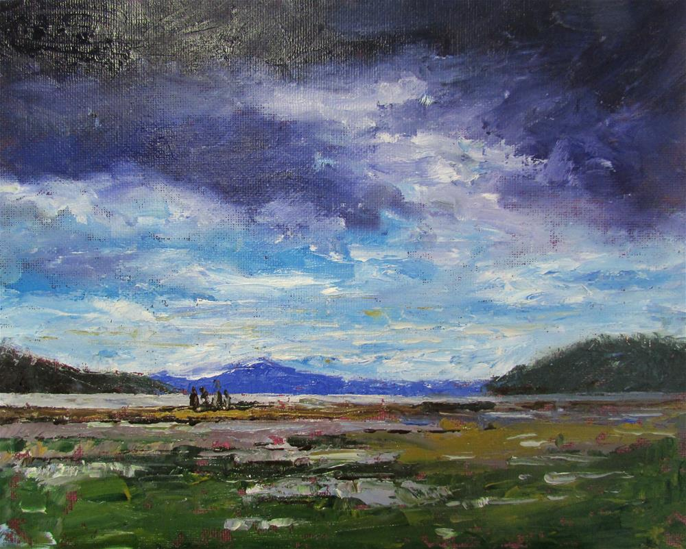 """8 x 10 inch oil  Cow Bay Estuary"" original fine art by Linda Yurgensen"