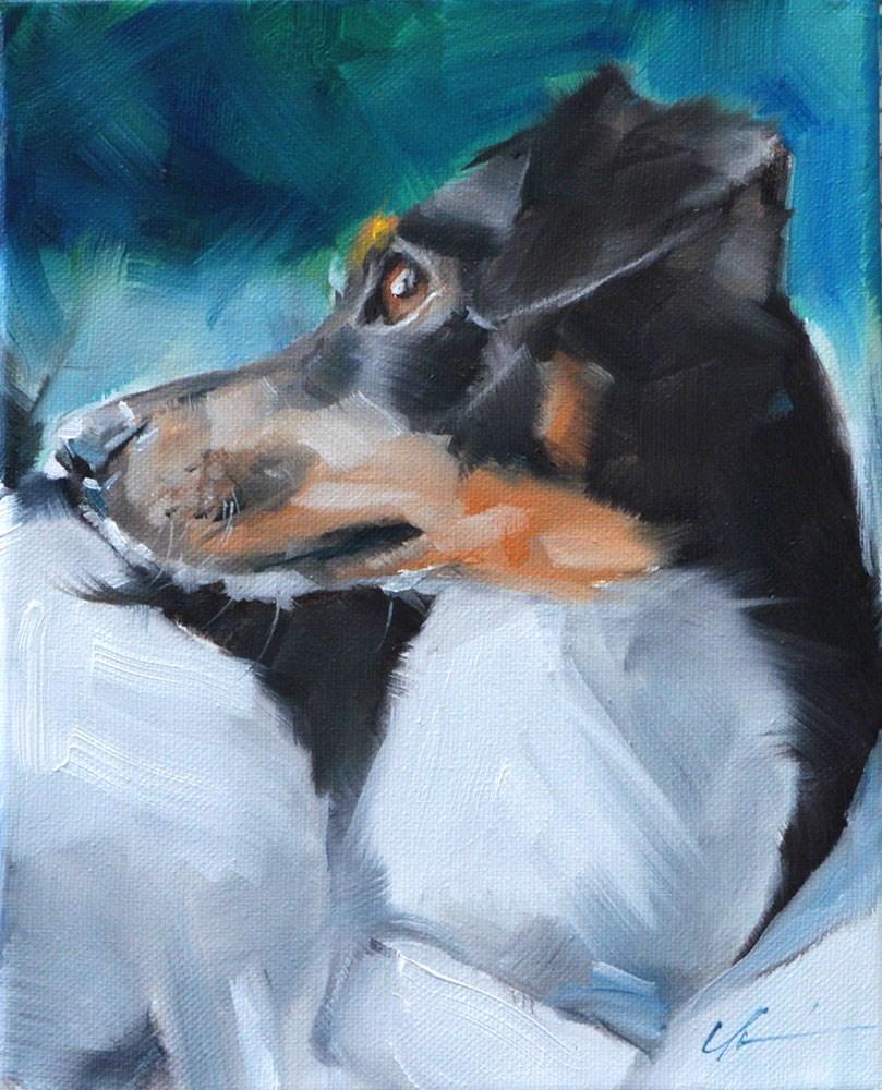 """The Daily Dog - Ten"" original fine art by Clair Hartmann"