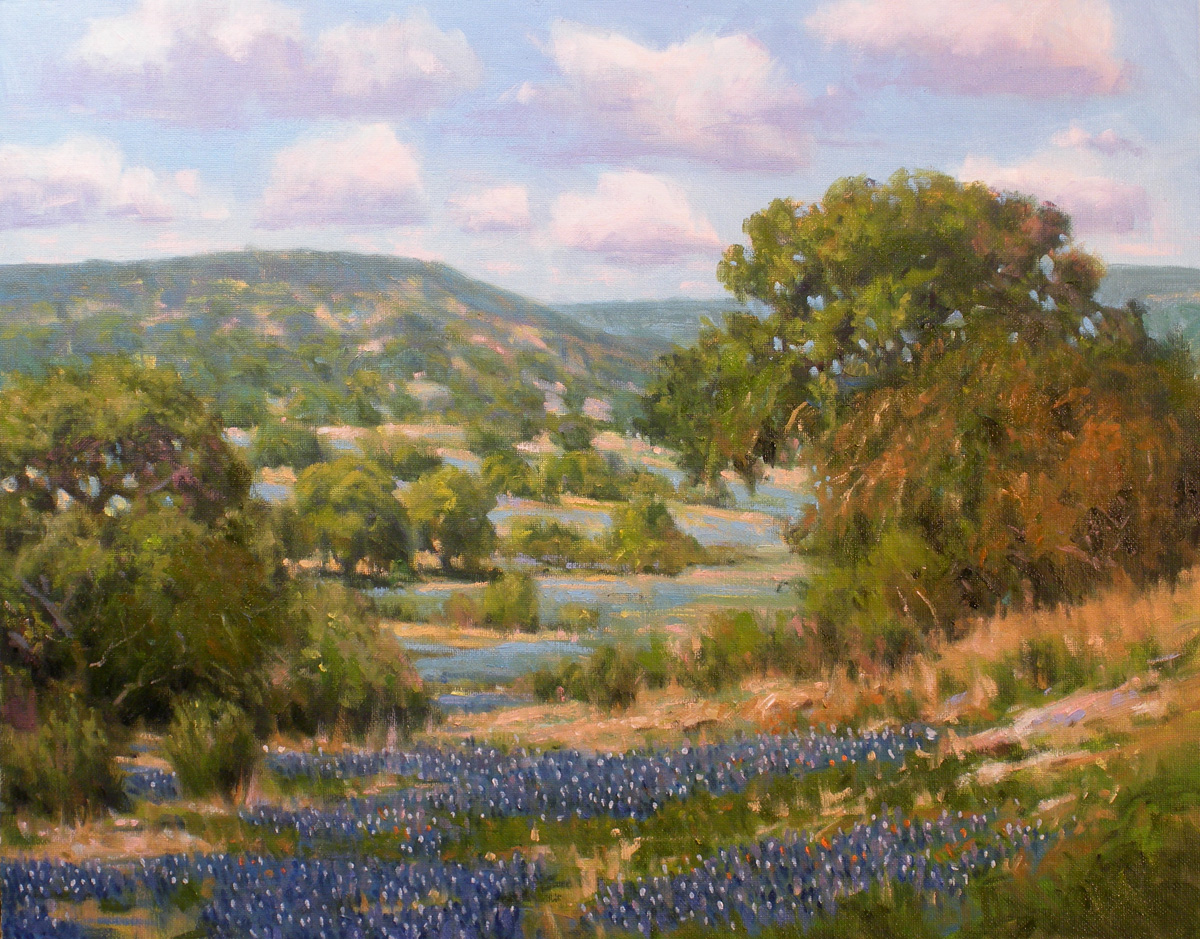 """Hill Country"" original fine art by David Forks"
