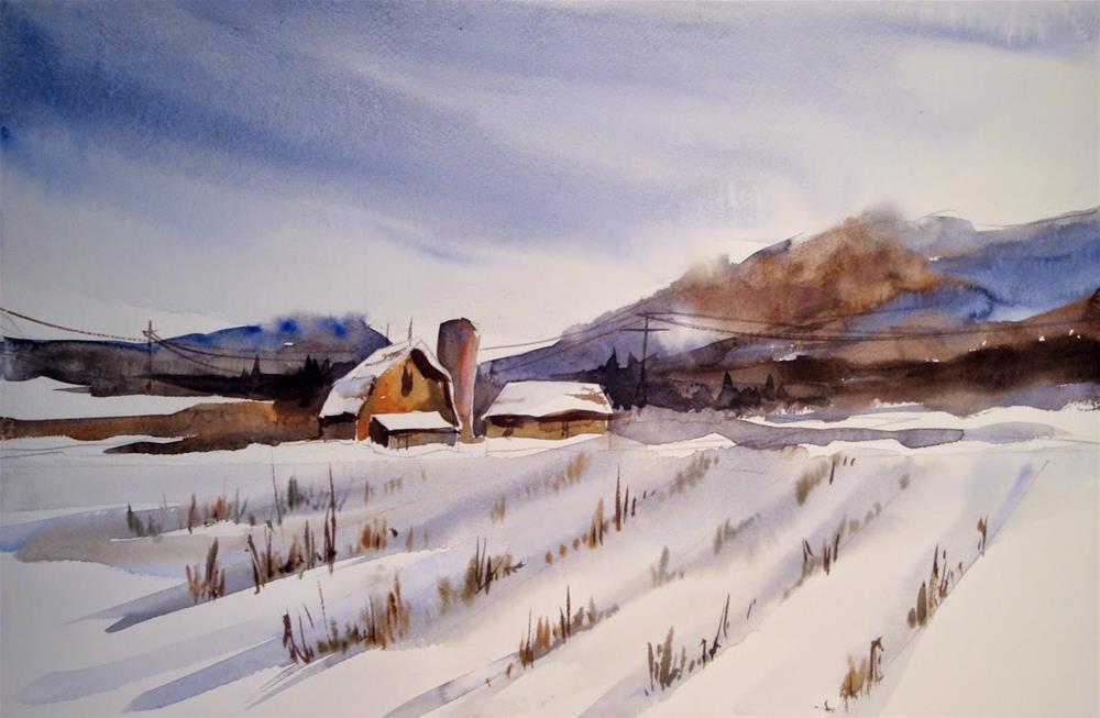 """Snow demo I"" original fine art by Kathy Los-Rathburn"