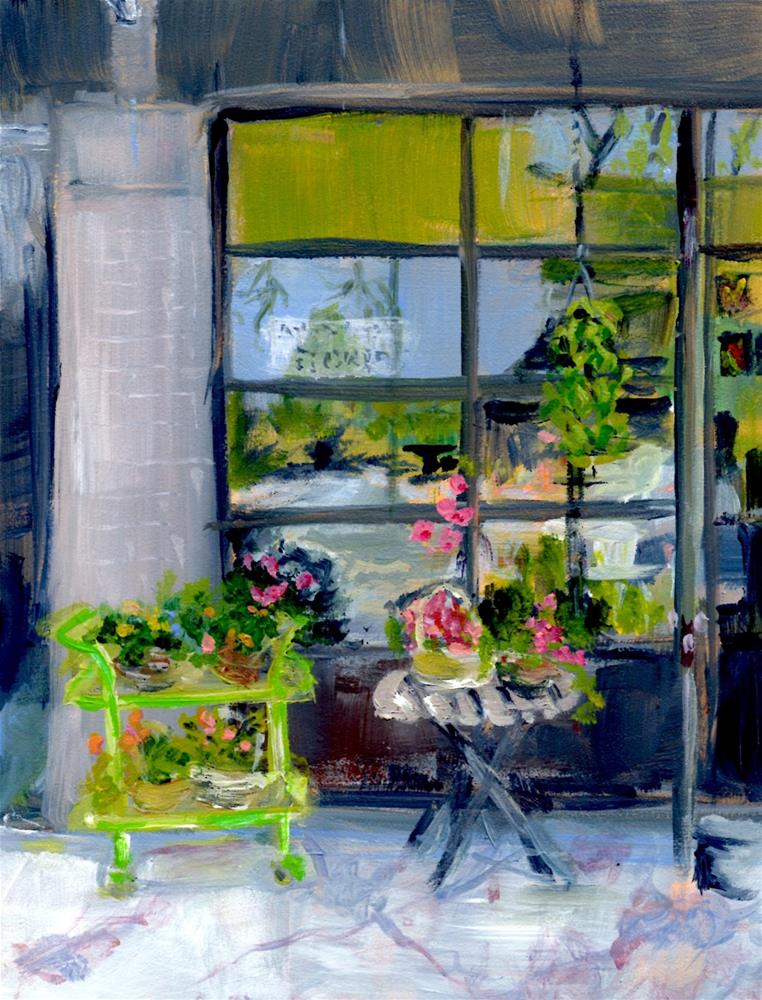 """Flowers and Reflections, B'ham No. 12"" original fine art by Judith Elder"