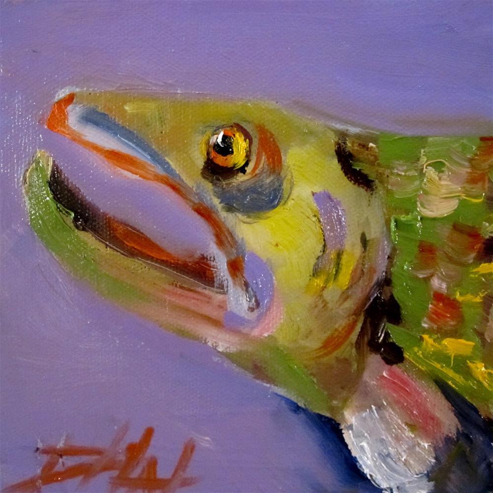 """Trout No.3"" original fine art by Delilah Smith"