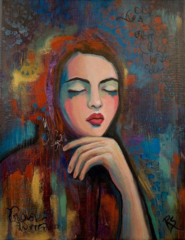 """""""In This Moment"""" original fine art by Roberta Schmidt ArtcyLucy"""