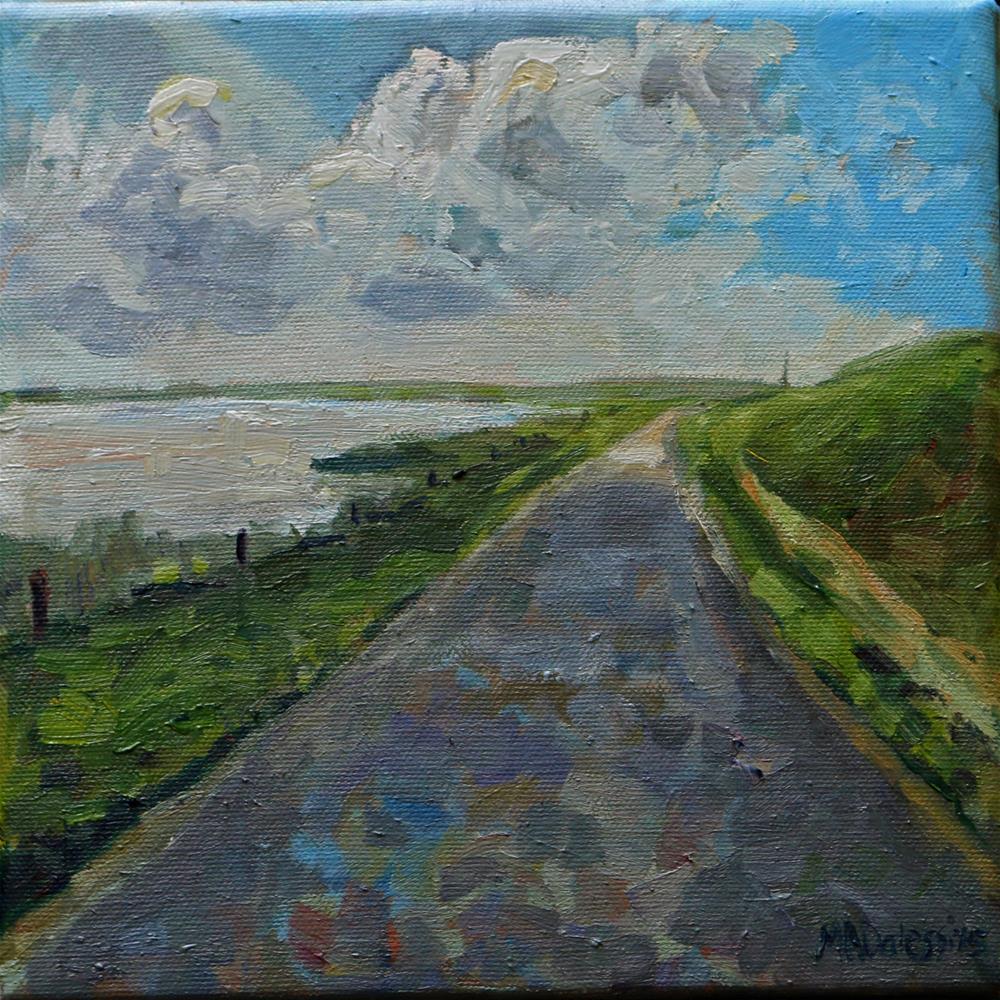 """Towards the light"" original fine art by Miranda Dalessi"