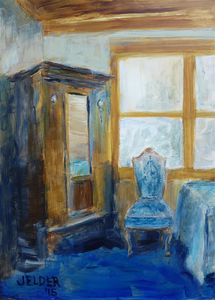 """Guest Room"" original fine art by Judith Elder"