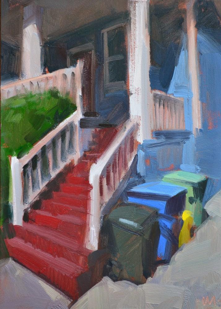"""Ruby Steps"" original fine art by Carol Marine"