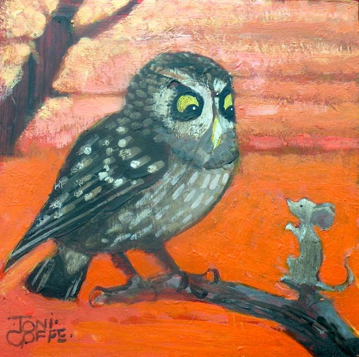 """""""Early Breakfast?"""" original fine art by Toni Goffe"""