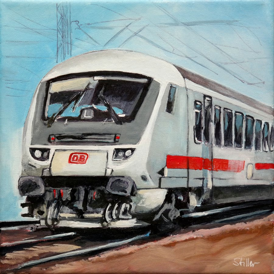 """2005 Regional Train"" original fine art by Dietmar Stiller"