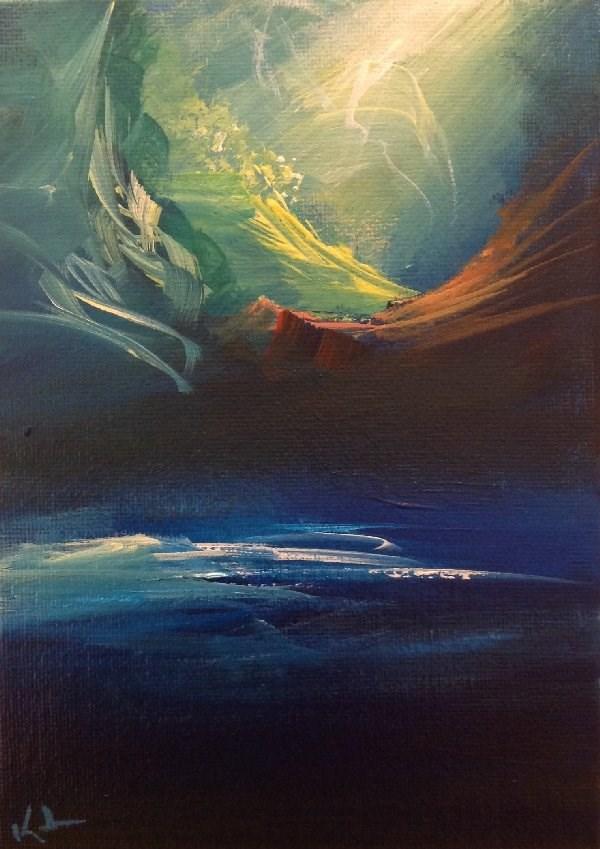 """Dropped Like Hours"" original fine art by David Kuhn"