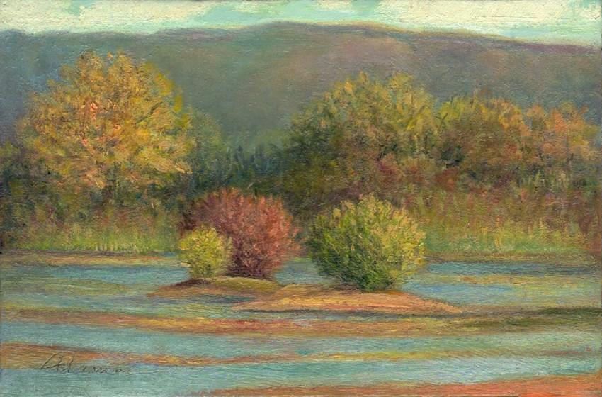 """Lingering Autumn"" original fine art by Carol L Adamec"