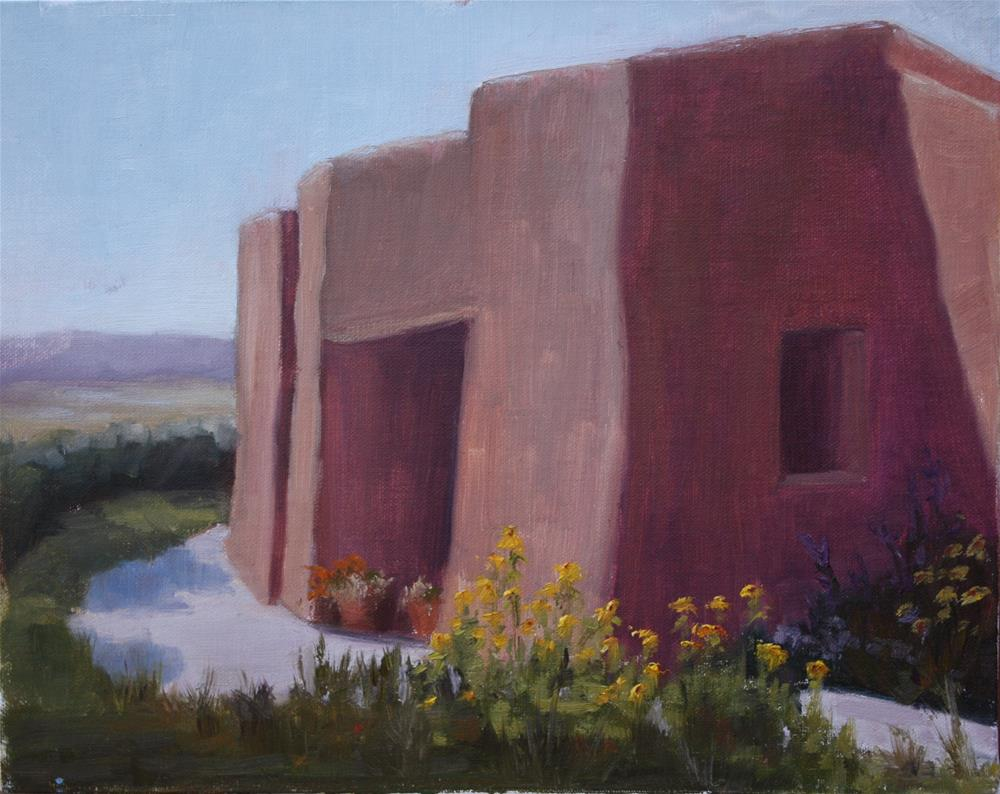 """Ghost Ranch Museum"" original fine art by Sheila Marie"