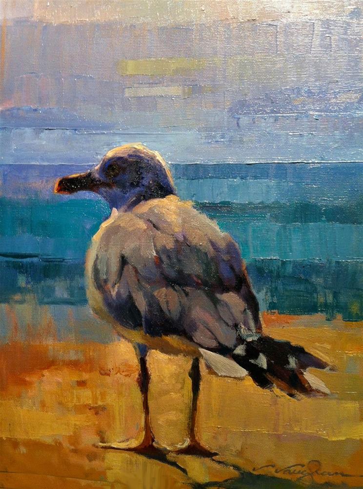 """""""To Sea"""" original fine art by V.... Vaughan"""