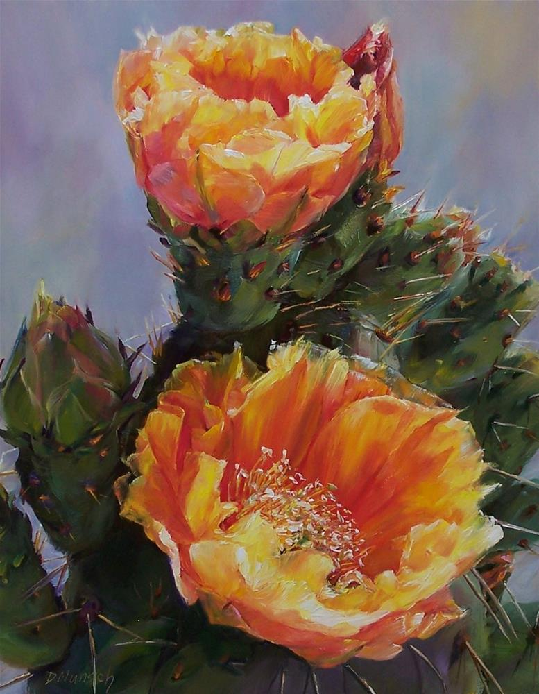 """Cactus Tower"" original fine art by Donna Munsch"