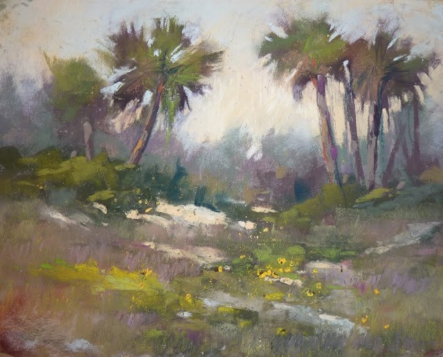 """Interpreting a Landscape en Plein Air"" original fine art by Karen Margulis"