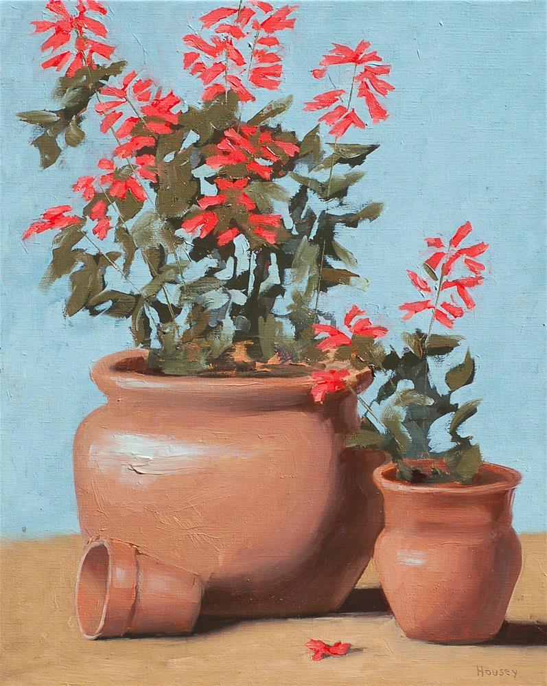 """Salvia"" original fine art by Bruce Housey"
