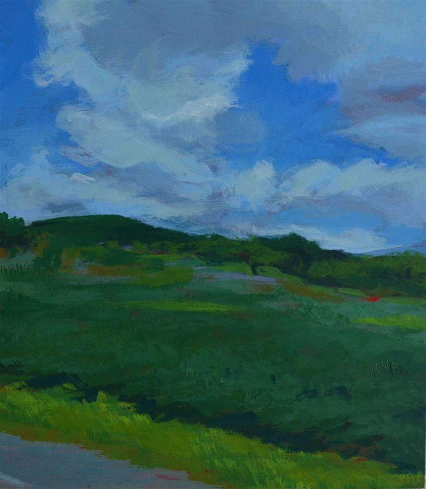 """Cooperstown Clouds"" original fine art by Cindy McDonough"