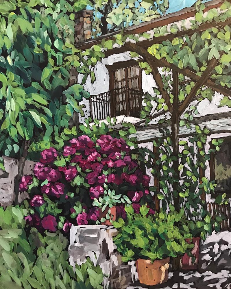 """Merlot Hydrangeas "" original fine art by Gina Garding"