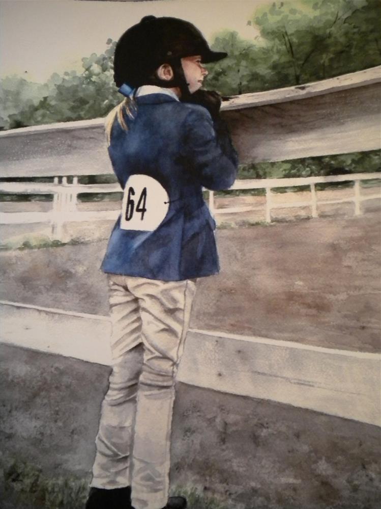 """First Show"" original fine art by Hilarie Johnson"