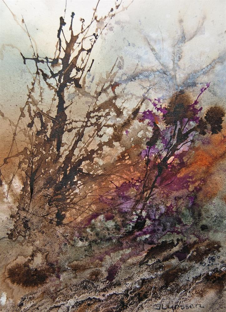 """Tangled Undergrowth"" original fine art by Jean Lurssen"