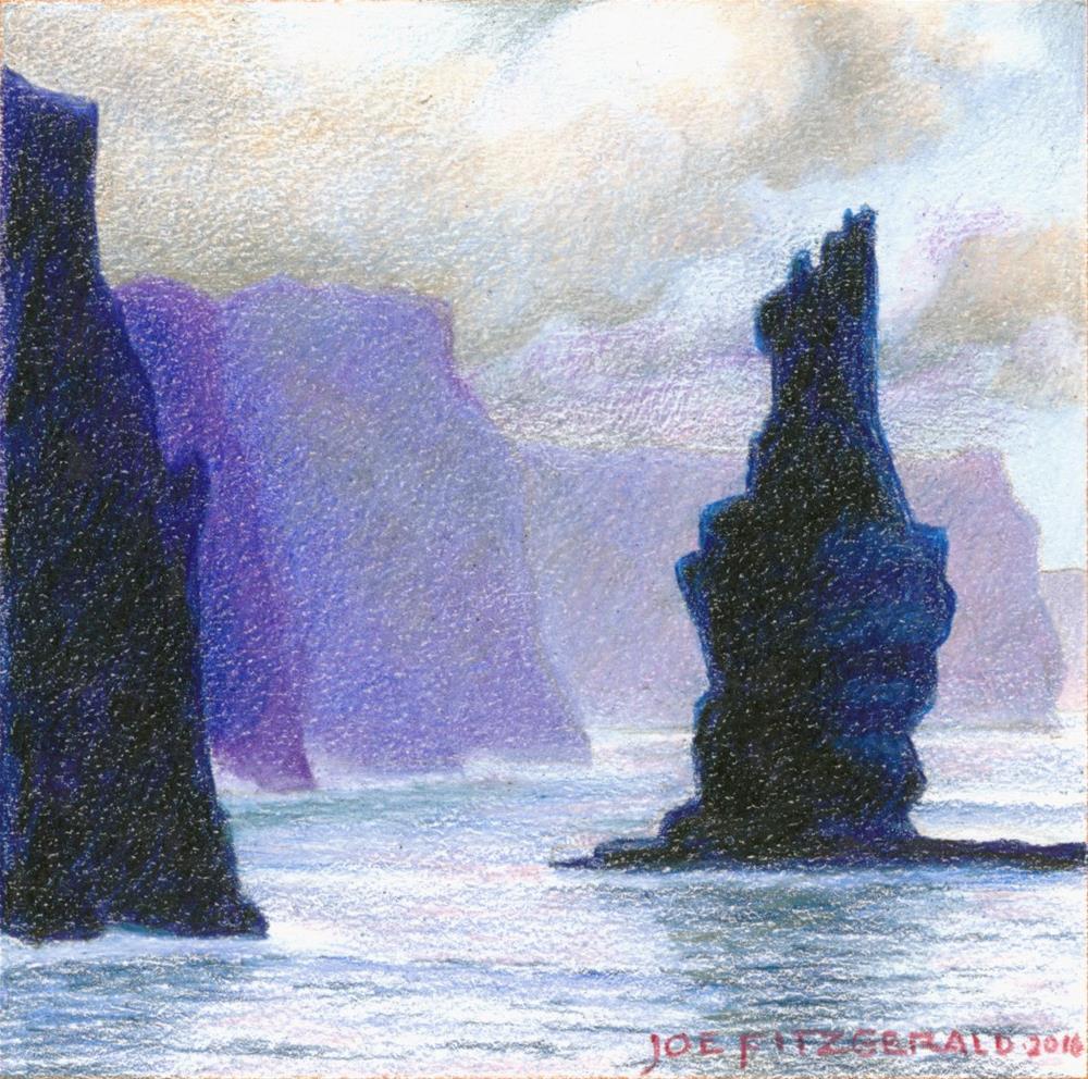 """Sailing Round Moher VI"" original fine art by Joe Fitzgerald"
