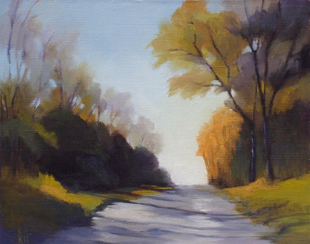"""November Drive"" original fine art by Rebecca Helton"