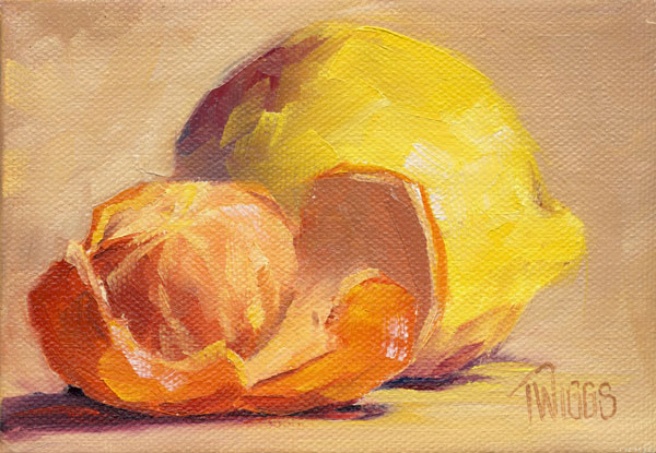 """Clementines 6"" original fine art by Lori Twiggs"