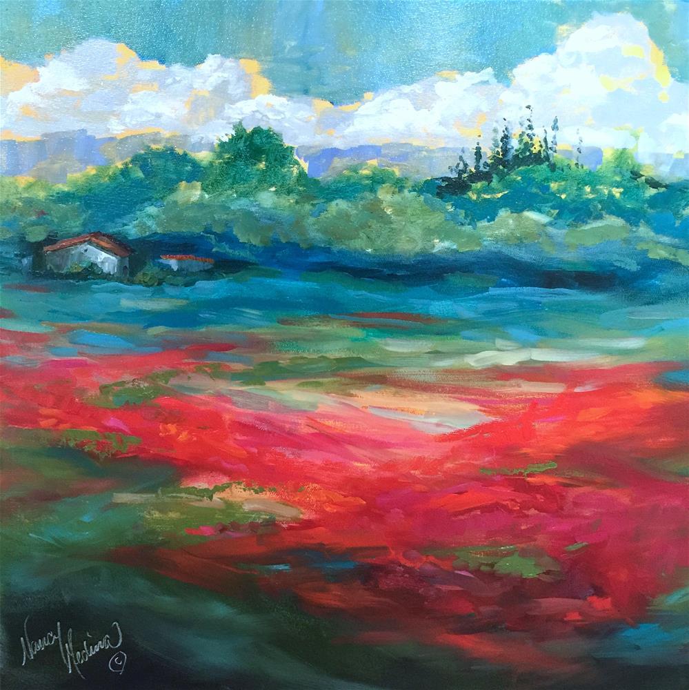 """Florida Sunshine and Poppies - Nancy Medina Art Videos and Classes"" original fine art by Nancy Medina"