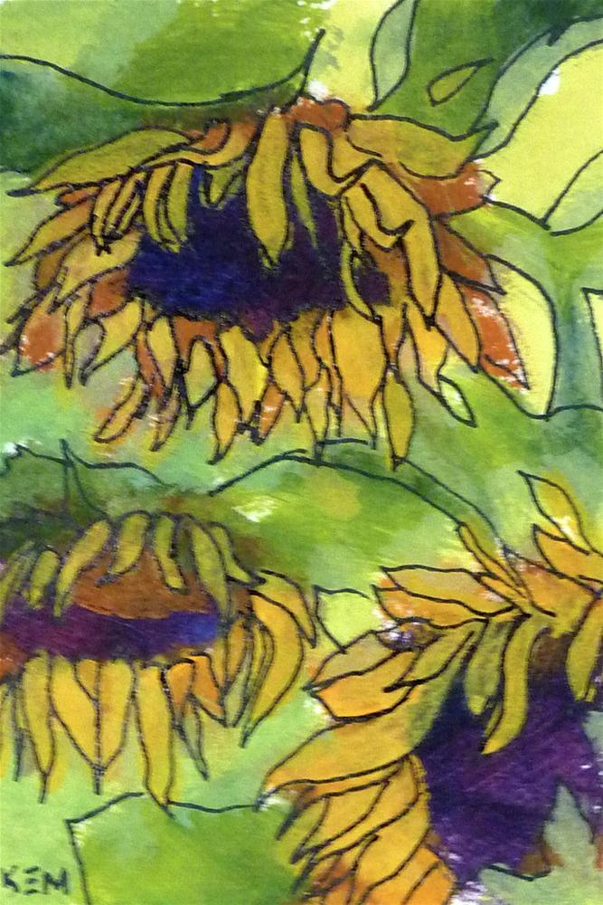 """SunflowerIII"" original fine art by Karen Margulis"