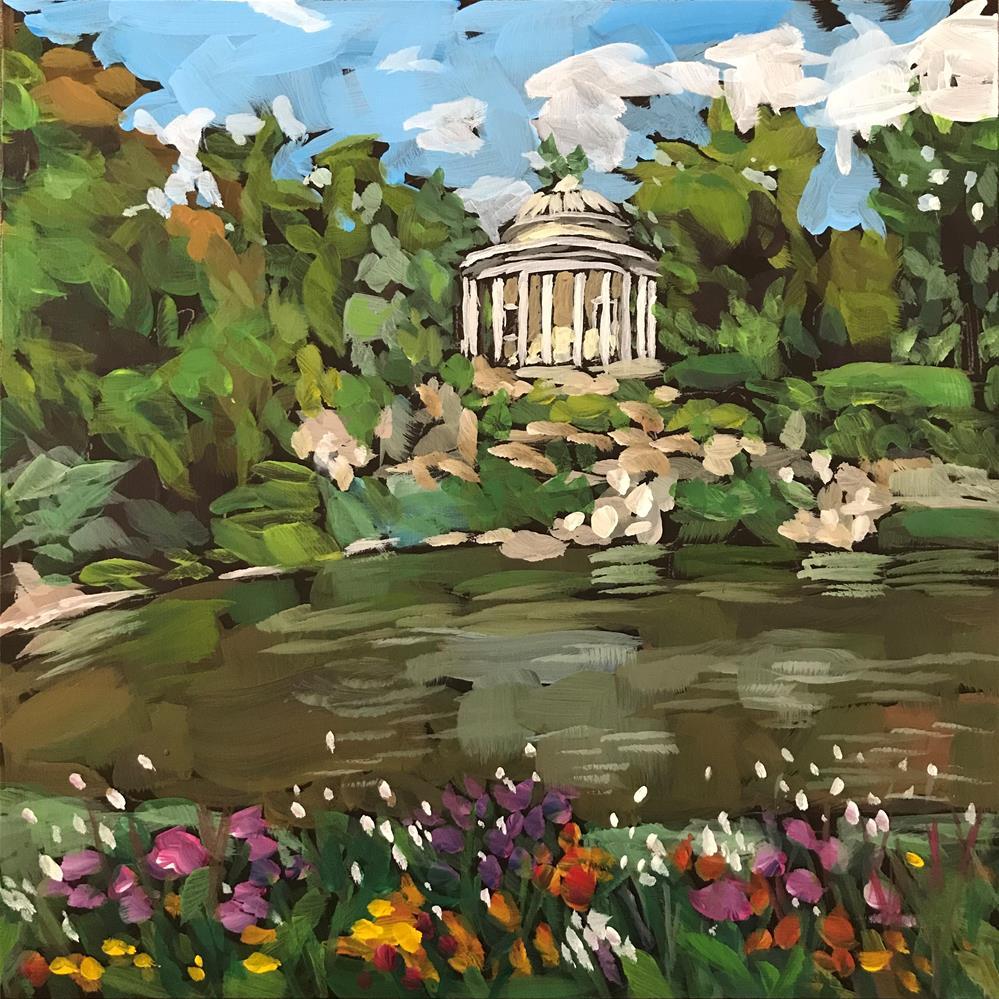 """Across the Pond"" original fine art by Gina Garding"