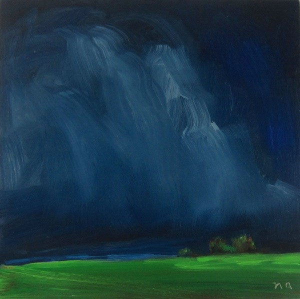 """Summer Storm Brings The Green"" original fine art by Nicki Ault"