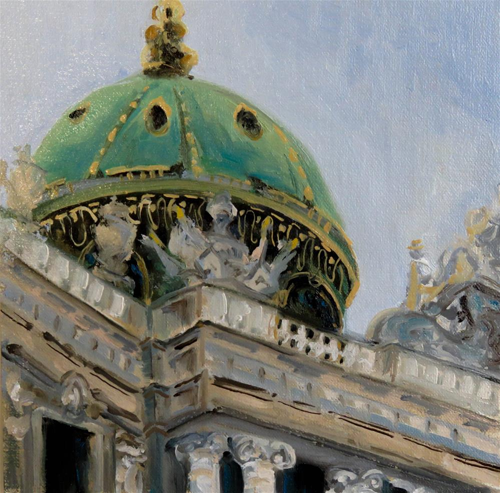 """Dome of the Imperial Palace in Vienna"" original fine art by Christa Friedl"