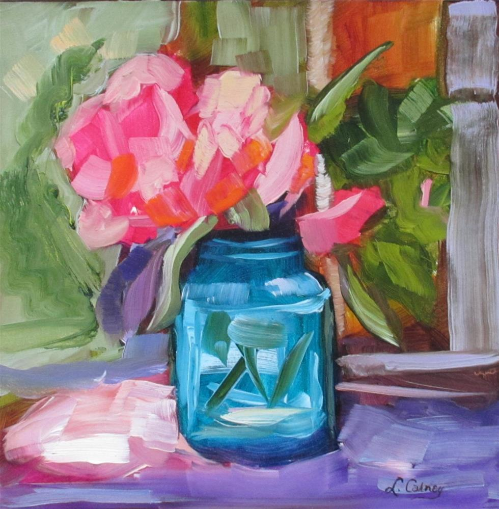 """""""In the Pink"""" original fine art by Linda Carney"""