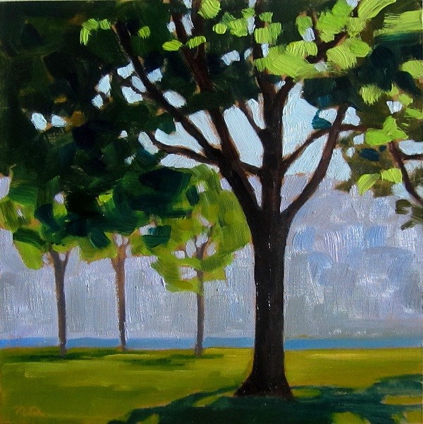 """""""The Tree By The Bessborough"""" original fine art by Nicki Ault"""