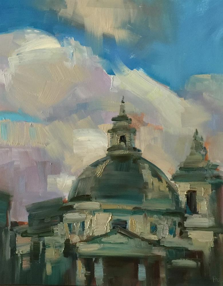 """Rooftops, Italian-Style"" original fine art by Patti McNutt"