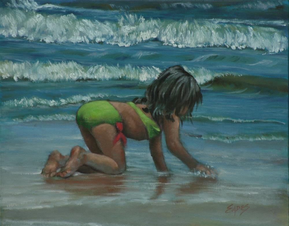 """Beach Beauty"" original fine art by Linda Eades Blackburn"