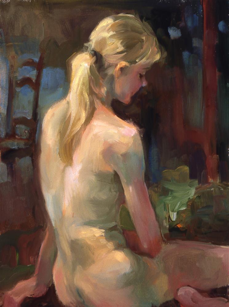"""""""Quiet Room"""" original fine art by Julie Snyder"""