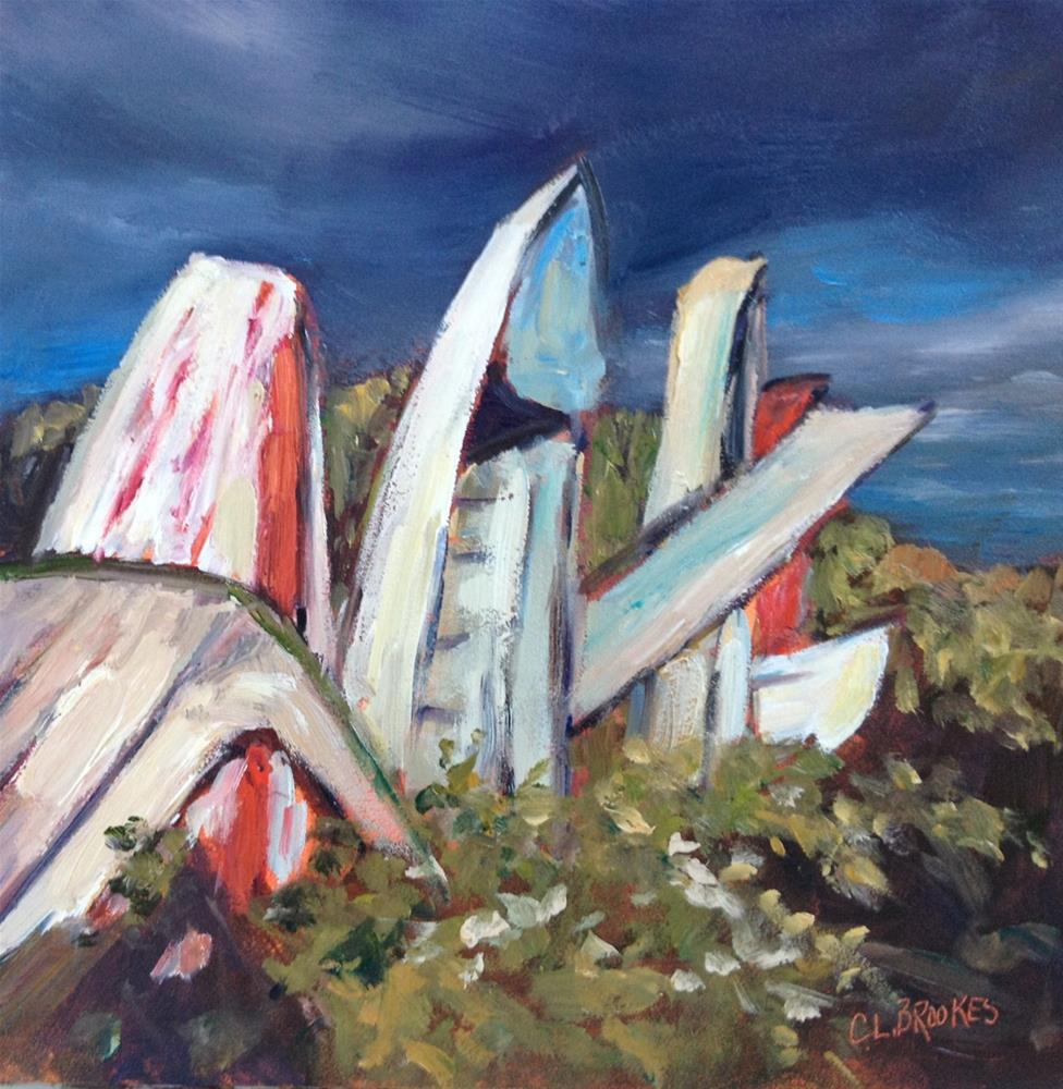 """Bickford Island Standing Boats"" original fine art by Claudia L Brookes"